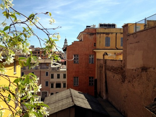 The view from the apartment in Rome